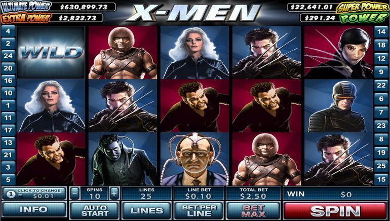 X-Men Nyerőgép Online